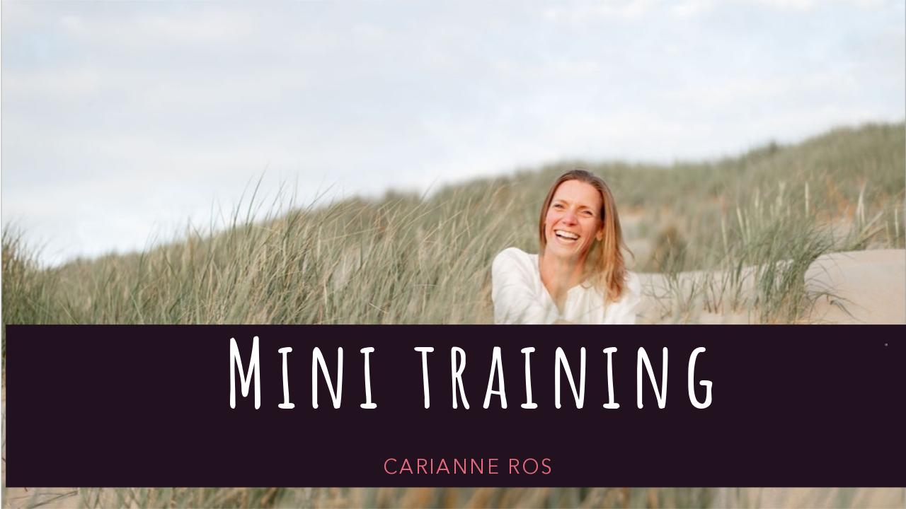 mini training Carianne Ros